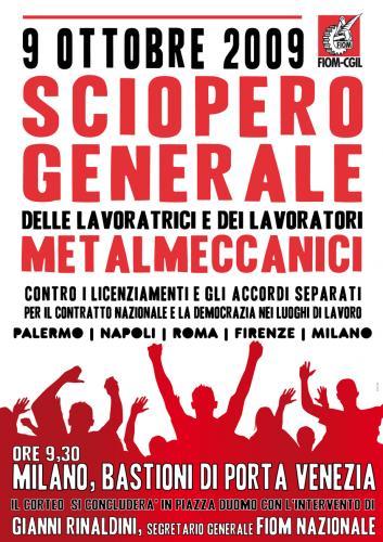 9 OTTOBRE: SCIOPERO E MANIFESTAZIONE A MILANO