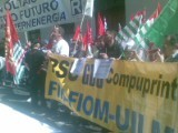 Manifestazione lavoratori fotovoltaico a Roma