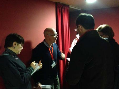 Federico Bellono intervistato dai giornalisti