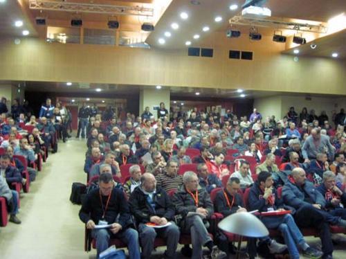 La platea dei delegati