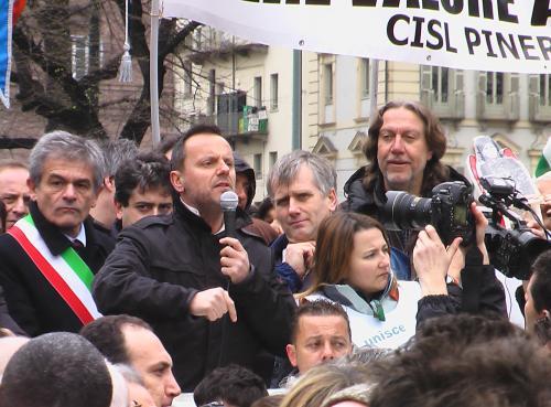 La grande manifestazione dei lavoratori Indesit a Torino il 20 marzo 2009_4