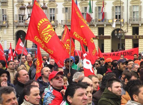 La grande manifestazione dei lavoratori Indesit a Torino il 20 marzo 2009_5
