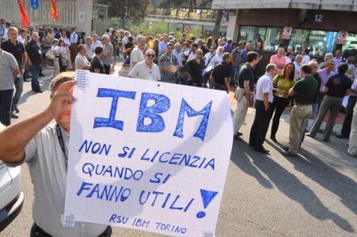 ALTA ADESIONE PER LO SCIOPERO ALL'IBM